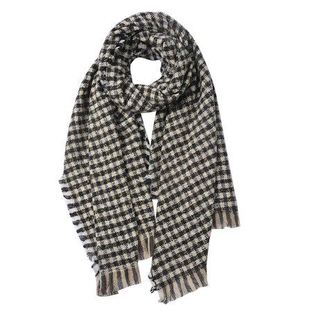 Sjaal 68*180 cm Zwart | JZSC0486 | Clayre & Eef