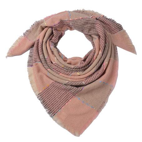 Sjaal 130*130 cm Roze | JZSC0494 | Clayre & Eef