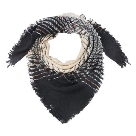Sjaal 130*130 cm Zwart | JZSC0495 | Clayre & Eef