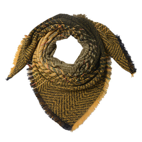 Sjaal 130*130 cm Geel | JZSC0496 | Clayre & Eef