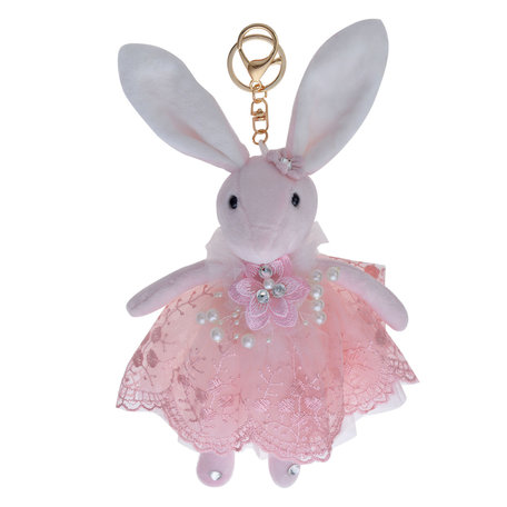 Decoratie knuffel konijn 20 cm Roze | TW0561 | Clayre & Eef