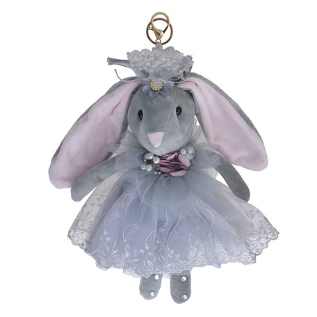 Decoratie knuffel konijn 30 cm Grijs | TW0562 | Clayre & Eef