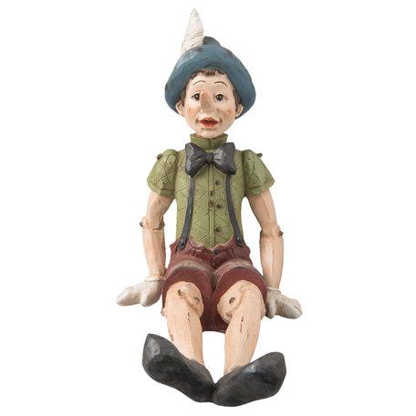 Decoratie figuur Pinokkio 23*15*22 cm Multi | 6PR1102 | Clayre & Eef