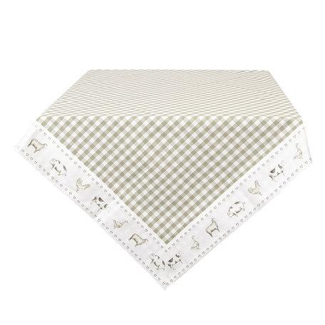 Tafelkleed 100*100 cm Groen | CLA01GR | Clayre & Eef