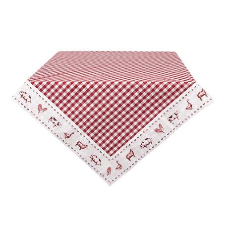 Tafelkleed 100*100 cm Rood | CLA01R | Clayre & Eef