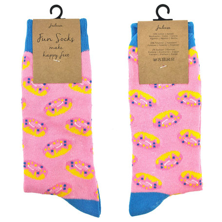 Sokken maat 35-38 35-38 Roze | JZSK0013S | Clayre & Eef