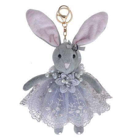 Decoratie knuffel konijn 20 cm Grijs | TW0560 | Clayre & Eef