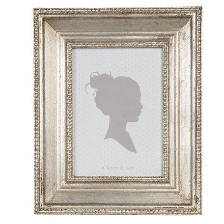 Fotolijst 17*2*22 cm / 13*18 cm Zilverkleurig | 2F0754 | Clayre & Eef