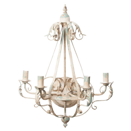 Wandlamp 54*28*71 cm E14/max 4*25W Wit | 5LMP216 | Clayre & Eef