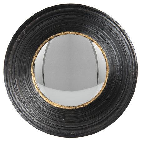 Spiegel ø 24 cm Zwart   62S200   Clayre & Eef