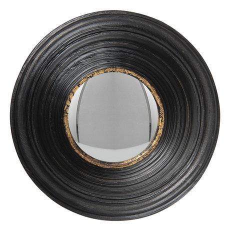 Spiegel ø 19 cm Zwart   62S201   Clayre & Eef