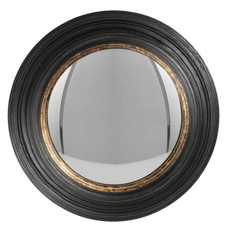 Spiegel ø 38 cm Zwart   62S202   Clayre & Eef