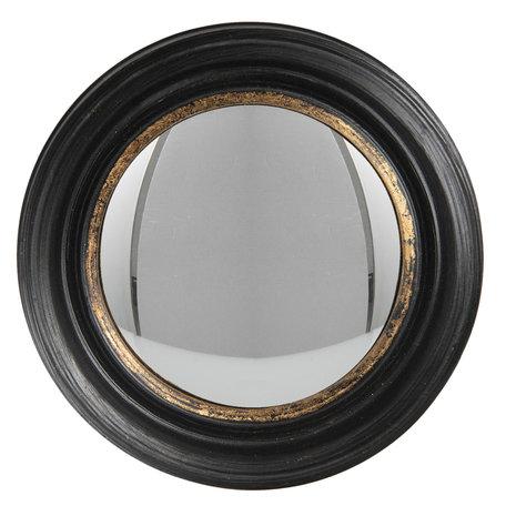 Spiegel ø 21 cm Zwart   62S203   Clayre & Eef