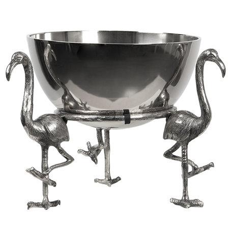 Punch bowl ø 36*33 cm Zilverkleurig | 6AL0029 | Clayre & Eef