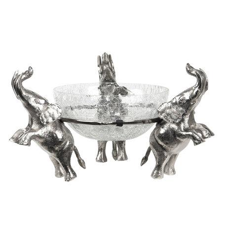Punch bowl ø 36*30 cm Zilverkleurig | 6AL0033 | Clayre & Eef