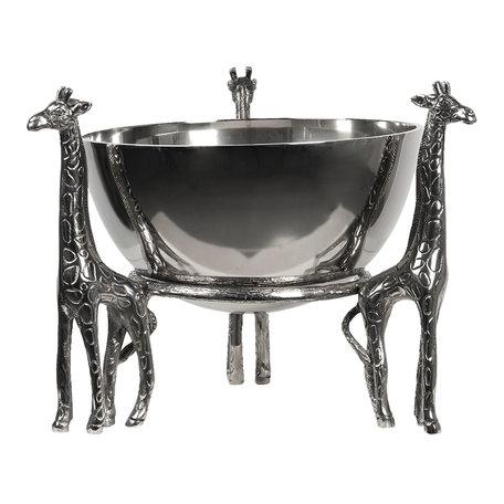 Decoratieve schaal ø 33*31 cm Zilverkleurig | 6AL0039 | Clayre & Eef