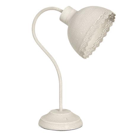 Bureaulamp 15*25*35 cm E27/max 1*60W Creme   6LMP553N   Clayre & Eef