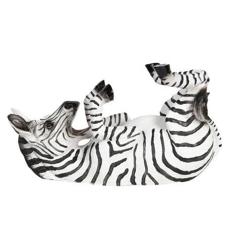 Flessenhouder zebra 32*12*18 cm Zwart | 6PR2710 | Clayre & Eef