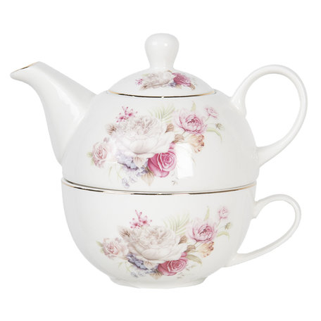 Tea for one set 17*11*14 cm / 0,4L Multi | FROTEFO | Clayre & Eef