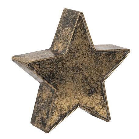 Decoratie ster 20*6*19 cm Bruin | 6Y3894 | Clayre & Eef