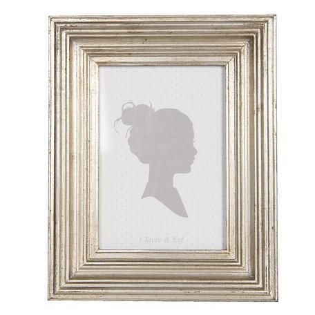 Fotolijst 17*2*22 cm / 13*18 cm Zilverkleurig | 2F0756 | Clayre & Eef