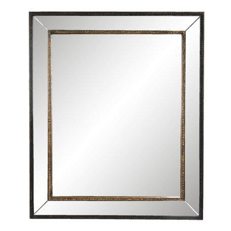 Spiegel 50*3*60 cm Zwart   52S224   Clayre & Eef