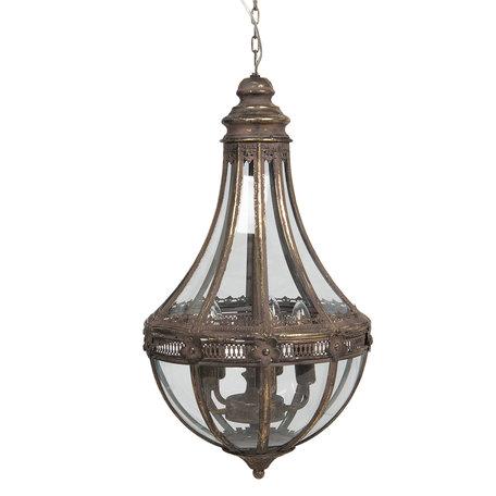 Hanglamp ø 35*67 cm E27/max 1*60W Bruin   5LMP324   Clayre & Eef