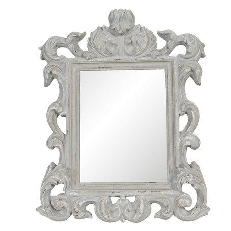 Spiegel 34*4*43 cm Grijs   62S209   Clayre & Eef