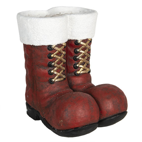 Decoratie laarzen kerstman 27*31*34 cm Rood | 6PR2996 | Clayre & Eef