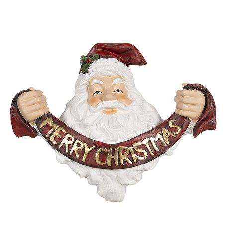 Decoratie kerstman 35*17*29 cm Rood | 6PR2998 | Clayre & Eef