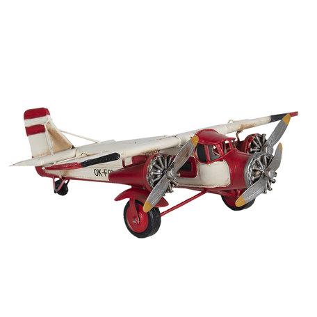 Model vliegtuig 28*25*7 cm Wit   6Y3821   Clayre & Eef