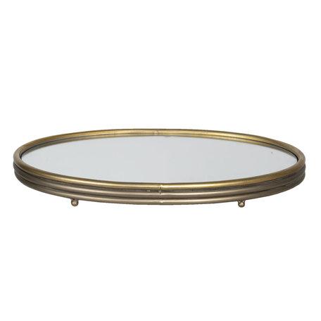 Dienblad met spiegel 49*34*5 cm Bruin | 6Y3864 | Clayre & Eef
