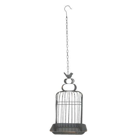 Decoratie vogelkooi 27*27*46 cm Grijs | 6Y3925 | Clayre & Eef