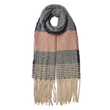 Sjaal 68*185 cm Blauw | JZSC0481 | Clayre & Eef
