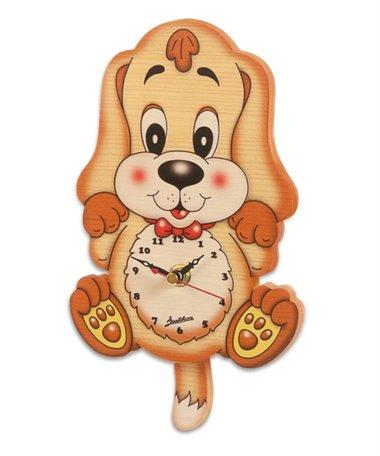 Muurklok hond met slinger   Bartolucci