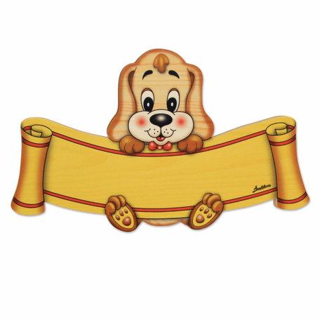 Naambord hond 17,5 x 11 cm | Bartolucci | Hout