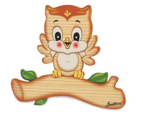 Magneetbord uil 16,5 x 14 cm | Bartolucci | Hout