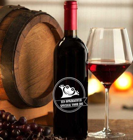 Etiket / Sticker wijn een opkikkertje speciaal voor jou | Rosami