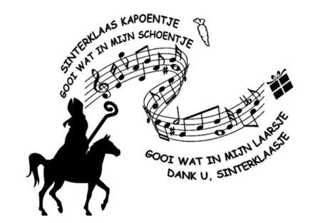 Raam / muur sticker Sinterklaas kapoentje | Rosami Decoratie
