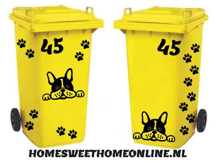 Stickerset hond met huisnummer & hondenpootjes | Kliko | Rosami