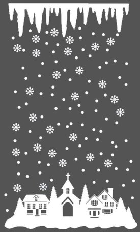 162 delige voordeelset herbruikbare stickers wintertafereel met ijspegel | Rosami