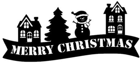 Raamsticker set herbruikbaar huisjes merry christmas | Rosami