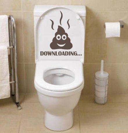 Sticker downloading drol toilet | Rosami