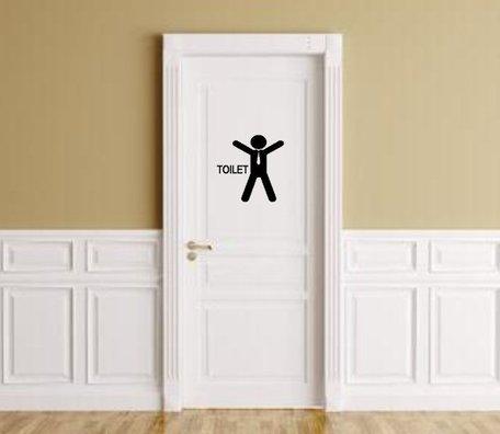 Sticker voor heren toilet met silhouette man | Rosami