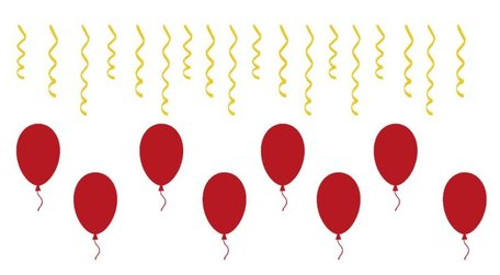 26 delige stickerset herbruikbaar serpentine & ballonnen | Rosami