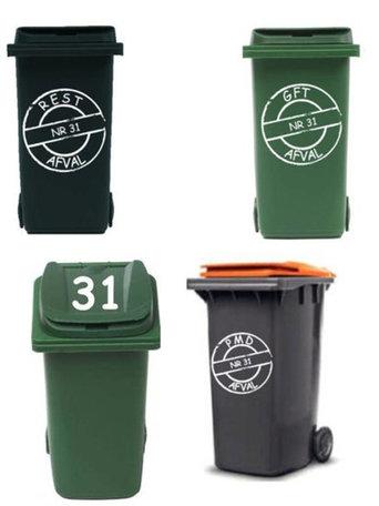 Voordeelset 6x afvalcontainer / kliko sticker | Rosami