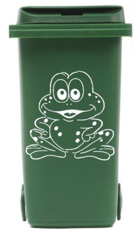 Sticker kikker voor afvalcontainer / kliko | Rosami