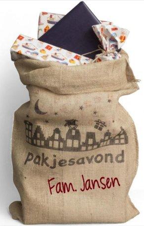 Jute cadeau zak pakjesavond met naam | Rosami | Sinterklaas