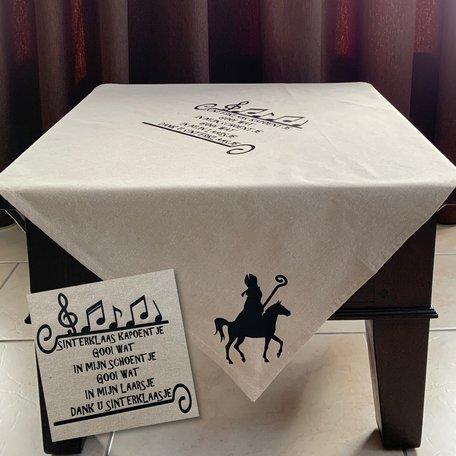 Tafelkleed katoen sinterklaas kapoentje | 100 x 100 | Rosami | Sinterklaas
