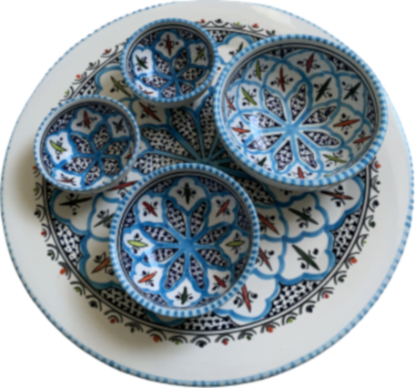 Tapas Party set 5 delig Turquoise Blue Fine | TP.PY.TB | Dishes & Deco